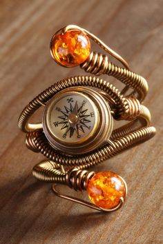 Steampunk compass ring by CatherinetteRings.deviantart.com on @DeviantArt