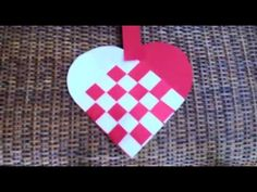 How to make a woven heart for Valentine's Day - YouTube