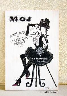 L.A. FARM GIRL Wedding Chalkboard Signs