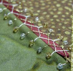 Have trouble embroidering Cretan stitch? Step by step photos will teach you how!