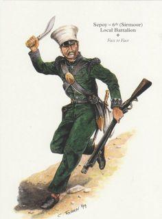 SEPOY 6th SIRMOOR LOCAL BATTALION 1857