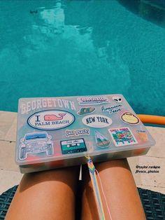 friendship bracelets by pool Summer Goals, Summer Fun, Summer Bucket, Summer Feeling, Summer Vibes, Cute Friendship Bracelets, Buy Stickers, Brand Stickers, Macbook Stickers