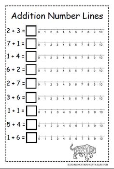 number line addition worksheets                                                                                                                                                                                 More