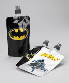 Take a look at this Batman Kids' Foldable Bottle - Set of Three by Shark skinzz on #zulily today!