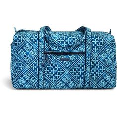 Vera Bradley Large Duffel Travel Bag in Havana Dots ($85) ❤ liked on Polyvore featuring bags, luggage and cuban tiles