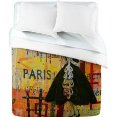 DENY Designs Irena Orlov Paris Fashion 1 Duvet Cover, Queen by DENY Designs. $189.00. Color - Top: Full color   Color - Bottom: White. Fabric: Ultra soft, 100% polyester microfiber. Manufacturing: 6 color dye process, custom printed for every order. Metal snaps for closure. Closure: Metal snaps seen in snap closure view. Turn your basic, boring down comforter into the super stylish focal point of your bedroom with this DENY Designs duvet cover. Custom printed when you or...