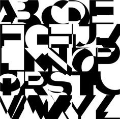 State by Neville Brody shows type being deconstructed — less about communicating words — more about glyph as design