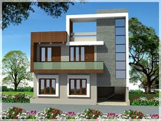 Duplex House Design Building Elevation Wall Property Ers