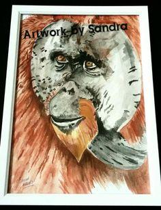 Original orangatang painting / prints for sale Art Paintings For Sale, Prints For Sale, Painting Prints, The Originals