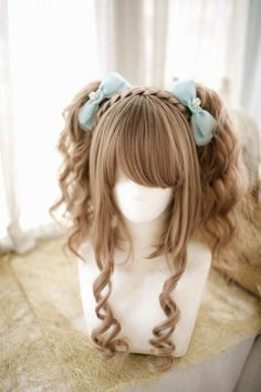 Kawaii Hairstyles, Hairstyles With Bangs, Pretty Hairstyles, Anime Hairstyles, Cosplay Hair, Cosplay Wigs, Male Cosplay, Anime Cosplay, Wig Styles