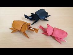 Diy Origami, Origami Paper, Crafty, Youtube, Paper, Mermaid Monofin, Origami Animals, Origami Tutorial, Youtubers