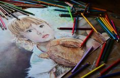 Custom Colored Pencil Portrait from photography by JRajtar on Etsy