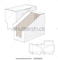 Product Shelf Box with Die Cut Template