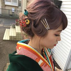 Modern Hairstyles, Bride Hairstyles, Yukata, Geisha Hair, Hair Arrange, Hair Setting, Japanese Hairstyle, Japanese Beauty, Hair Ornaments