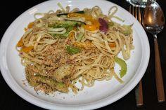 Auch Lauras Tag war stressig. Abends gab es Gemüse-Pasta mit Chilibröseln.
