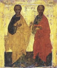 Unknown Artist. Apostles Peter and Paul. Russian. 16th century.