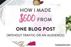 Making money blogging is something a lot of new bloggers try their hand at, but for many it doesn't work out. Why? Not enough pageviews. Not a big audience. Too new. Well, what if I told you, it's possible to make money from blogging without traffic or having a big audience? Yeah, I know. It …