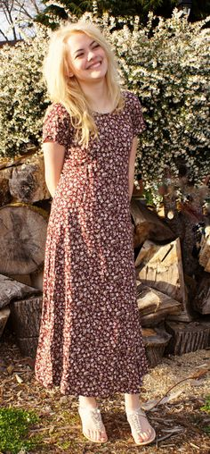 Floral Maxi Long 90's Grunge Dress by StarShineVintage on Etsy