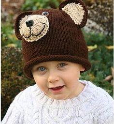Black Bear Hat  PDF Knit Pattern  All Sizes on by charbridgecrafts, $5.00