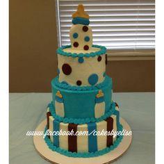 Baby bottle baby shower cake. Baby shower cake. Baby shower cake ideas. Baby bottle cake. www.facebook.com/cakesbyelise