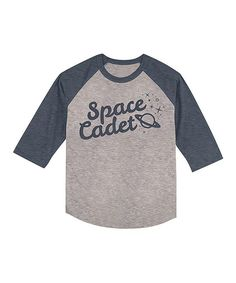 Navy & Heather Gray 'Space Cadet' Raglan Tee - Toddler & Kids