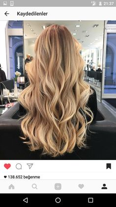 20 Cute and Easy Blonde Balayage Hairstyles – My hair and beauty Beige Blonde Hair Color, Blonde Hair Looks, Honey Blonde Hair, Gold Blonde Hair, Brunette Color, Light Blonde, Color Rubio, Hair Highlights, Color Highlights