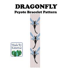 Peyote Pattern Dragonfly Peyote Stitch