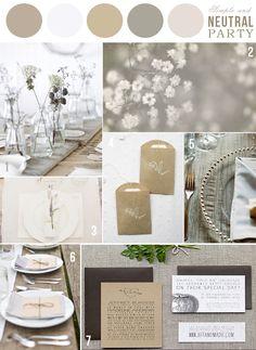 Four Fantastic Winter Wedding Reception Ideas – MyPerfectWedding Neutral Wedding Colors, Neutral Color Scheme, Color Palate, Wedding Color Schemes, Colour Schemes, Neutral Palette, Neutral Tones, Wedding Themes, Our Wedding