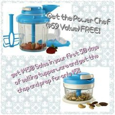Say yes to tupperware!  Join my team by June 6, 2014 and get the Powerchef for FREE.  http://my2.tupperware.com/victoriastewart
