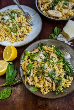 Roast Chicken Fusilli with Garlic Cream Sauce | Dennis The Prescott