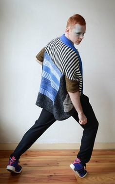 Royally Striped by Stephen West. malabrigo Arroyo in Glitter colorway and other yarns.