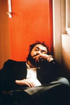 Stanley Kubrick on the set of A Clockwork Orange, 1971