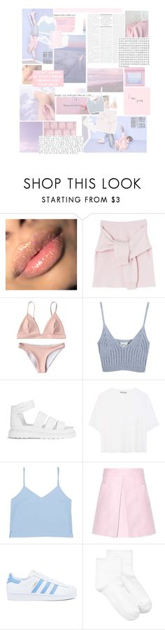 """""""pure."""" by wonholy ❤ liked on Polyvore featuring Chicnova Fashion, Dr. Martens, Vince, Marni, adidas, Hue and Pointer"""