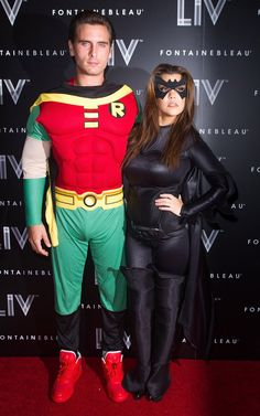Pin for Later: Double Trouble: Hollywood's Halloween Costume Copycats Batman and Robin Kourtney Kardashian and Scott Disick arrived at a Miami Halloween party dressed as Batman and Robin in 2012.