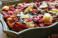 Breakfast Casserole: Sun Dried Tomato, Basil & Goat Cheese