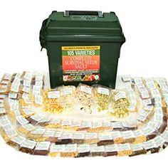 Fruit Herb and Vegetable Heirloom Seeds. Germination Success for Doomsday Preparedness Peace of Mind. Emergency Supplies in a Cal Ammo Box. Birthday Gifts For Grandma, Grandma Gifts, Planting Vegetables, Planting Seeds, Emergency Supplies, Survival Food, Survival Gear, Vaulting, Peace Of Mind