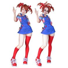 Horror never looked as cute as it does with the Child's Play Chucky Bishoujo Statue, adding a whole new dimension to Chucky asking if you wanna play. Bishoujo Statue, Childs Play Chucky, Character Art, Character Design, Funny Horror, Horror Movie Characters, Horror Icons, Anime Figurines, Cute Anime Pics