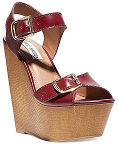 Steve Madden Women's Breeann Platform Wedge Sandals - Shoes - Macy's