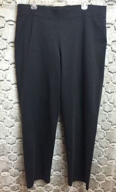 f98cee84c7 Eileen Fisher Womens Size Large Comfy Stretch Knit Pull On Pants Dark Gray  95JH
