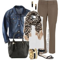 """Plus Size - Business Casual"" by alexawebb on Polyvore alexa webb: switch up the animal print?"