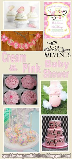 Pink and cream is the inspiration for this baby shower. It's all about bright and cherry, but sweet and creamy goodness!