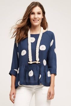 Pivot Peplum Blouse - anthropologie.com