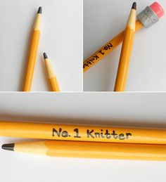 No. 1 Knitter Pencil Knitting Needles. Perfect for getting kids interested in knitting!