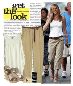 """Celebrity Style: Jennifer Aniston"" by lolahaze ❤ liked on Polyvore featuring Stuart Weitzman, Vince, STELLA McCARTNEY, Essentiel, Oasis and Daisy Knights"