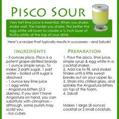 Pisco sour anyone?