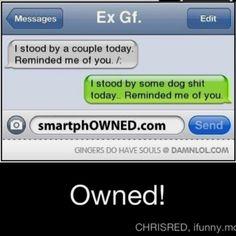 Hahaha shouldn't have done him wrong gurrrhh! Lol