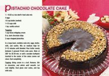 Pistachio Chocolate Cake - YUM! @ReaMark Real Estate Recipe Postcards - Find the Real Estate Postcard That Best Fits Your Tastes