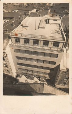 Photographs of Czech and Slovak functionalist architecture Czech Republic, Vintage Images, Modern Architecture, Modernism, Black And White, Department Store, City, Photographs, Pictures