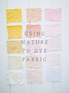 Natural fabric dye DIY by DesignLoveFest Shibori, Tye Dye, Natural Dye Fabric, Natural Dyeing, Diy Broderie, Diy Inspiration, Textiles, How To Dye Fabric, Dyeing Fabric