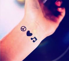 peace sign tattoo just looking for placement tattoos pinterest peace sign tattoos peace. Black Bedroom Furniture Sets. Home Design Ideas